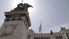 Altare della Patria (alter of the Fatherland), Rome, Lazio, Italy, Europe Stock Footage
