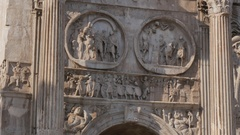 Arc of Constantine & Colosseum, Rome, Lazio, Italy, Europe Stock Footage