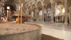 Interior of Basilica di Santa Maria in Ara coeli, Rome, Lazio, Italy, Europe Stock Footage