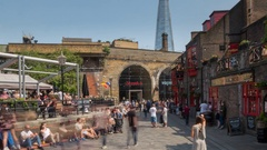 South Bank & Shard Time Lapse, London, England, UK, Europe Stock Footage