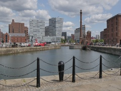 Albert Dock, Liverpool, Merseyside, Lancashire, England, UK, Europe Stock Footage