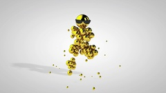 Golden Dancing Character against white, Luma Matte Stock Footage