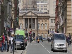 Liverpool Town Hall on Castle Street, Liverpool, Merseyside, Lancashire, Stock Footage