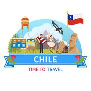 Chile Vector Composition Stock Illustration