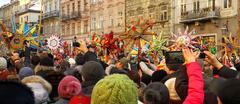 Celebrating Orthodox Christmas in Lviv Stock Photos