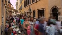 Time Lapse, Street life near Trevi Fountain, Piazza di Trevi, Rome, Lazio, Stock Footage