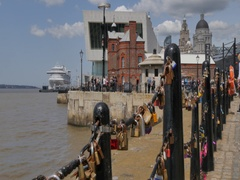 Love Locks at Albert Dock, Liverpool, Merseyside, Lancashire, England, UK, Stock Footage