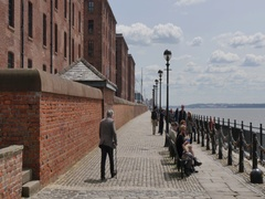 Waterfront at Albert Dock, Liverpool, Merseyside, Lancashire, England, UK, Stock Footage