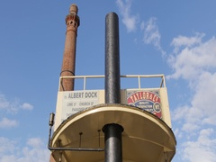 Albert Dock Pump House, Liverpool, Merseyside, Lancashire, England, UK, Europe Stock Footage