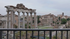 Roman Forum, Rome, Lazio, Italy, Europe Stock Footage
