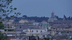Altare della Patria (alter of the Fatherland) from Park Borghese, Rome, Lazio, Stock Footage