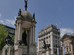 Queen Victoria Monument on Derby Square, Liverpool, Merseyside, Lancashire, Stock Footage