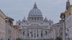St Peters Cathedral, Vatican City, Rome, Lazio, Italy, Europe Stock Footage