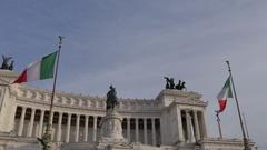 Altare della Patria (alter of the Fatherland), Rome, Lazio, Italy, Europe Stock Footage
