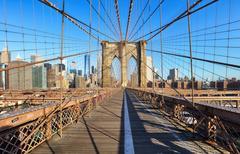 Brooklyn Bridge, New York City, nobody Stock Photos