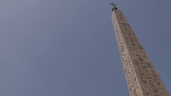 Rome's oldest Obelisk, Piazza del Popolo, Rome, Lazio, Italy, Europe Stock Footage
