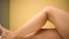 Beautiful legs of the young woman Stock Footage