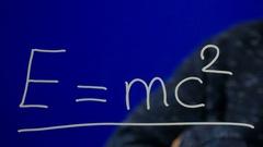 Erasing E= mc2. Stock Footage