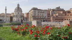Trajan's Column on Via dei Fori Imperiali, Rome, Lazio, Italy, Europe Stock Footage