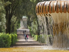 Fountain near Piazza di Siena, Park Borghese, Rome, Lazio, Italy, Europe Stock Footage