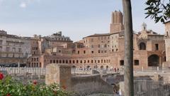 Trajan's Column on Via dei Fori Imperiali, Rome, Lazio, Italy, Europe Stock Footage