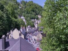 View of Matlock Bath, Derbyshire Dales, Derbyshire, England, UK, Europe Stock Footage