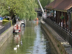 View of River Witham, Lincoln, Lincolnshire, England, UK, Europe Stock Footage