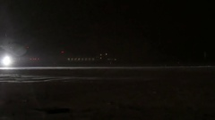 Russian Airlines plane landed at Domodedovo airport. Stock Footage