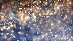 Abstract Loopable Background with nice flying stars Stock Footage