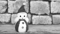 Kick to a snowman Stock Footage