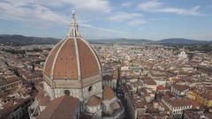 WS HA LD Santa Maria Del Fiore Dome with Cityscape / Florence, Italy Stock Footage