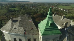 Aerial shooting of the Olesko castle Arkistovideo