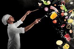 Food musical harmony Stock Photos