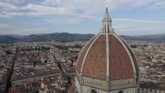 WS HA Santa Maria Del Fiore Dome with Cityscape / Florence, Italy Stock Footage