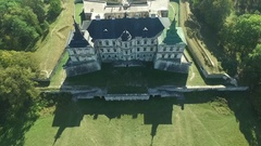 Aerial shooting of the Pidhirtsi castle Stock Footage
