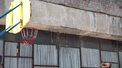 Basketball ball into the basket 4k Stock Footage
