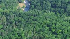 Aerial - Credit River Bridge & City Stock Footage
