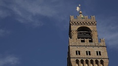 MH LA LD Clock Tower of Palazzo Vecchio / Florence, Italy Stock Footage