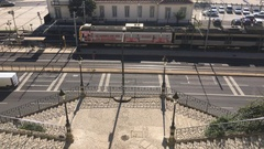 Train In City of Lisbon, Portugal Stock Footage
