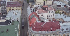 Aerial Shooting of a small central parts of Europe Stock Footage