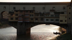 MH LD Ponte Vecchio Bridge / Florence, Italy Stock Footage