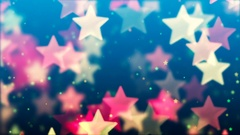 Flying Stars, Abstract Loopable Background Stock Footage