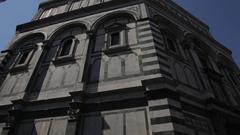 WS LA PAN Santa Maria Del Fiore Cathedral and Giotto Campanile Bell Tower / Stock Footage