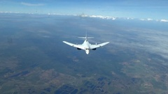 Bomber Tu-160 with a maximum sweep Stock Footage