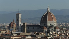 WS HA LD Santa Maria Del Fiore Cathedral with Townscape / Florence, Italy Stock Footage
