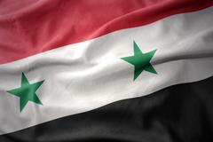 Waving colorful flag of syria. Kuvituskuvat