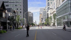 Toronto streets closed for traffic during summer 2016 Stock Footage