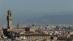 WS HA PAN Townscape with Baptistery and Santa Maria Del Fiore Cathedral / Stock Footage