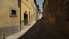 WS Old town alley / Tuscany, Italy Stock Footage