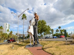 Sarasota statue hyperlapse 4k Stock Footage